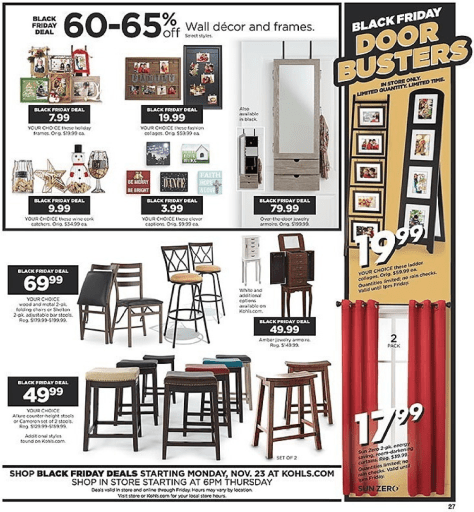 Kohls Black Friday 2015 Ad - Page 27