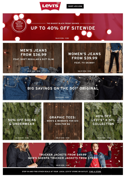 Levis Black Friday 2015 Ad - Page 1