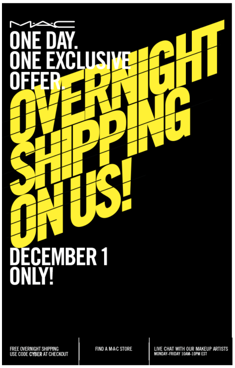 Mac Cosmetics Cyber Monday Ad - Page 1