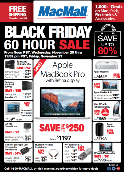 MacMall Black Friday 2015 Flyer - Page 1