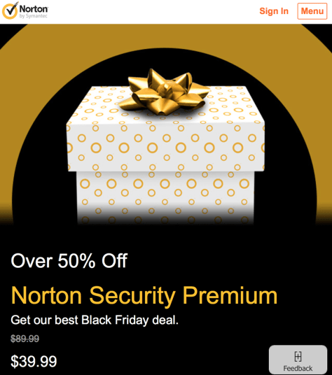 Norton Black Friday 2015 Flyer - Page 1