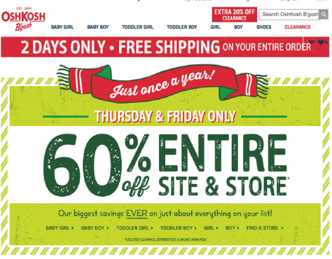 Osh Kosh Bgosh Black Friday 2015 Flyer - Page 1