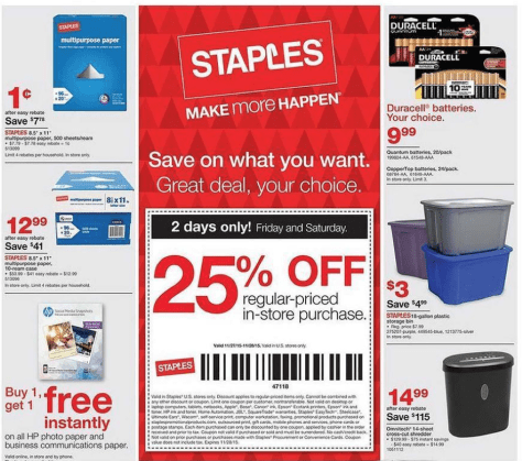 Staples Black Friday 2015 Ad - Page 7
