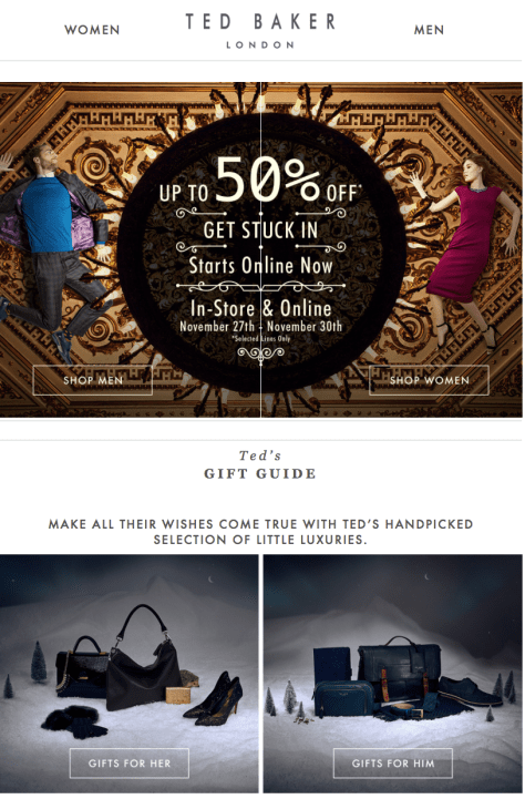 Ted Baker Black Friday 2015 Flyer - Page 1