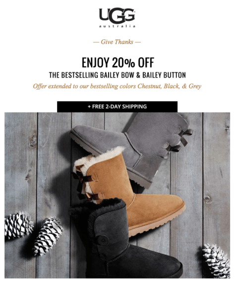 UGG Black Friday 2015 Flyer - Page 1
