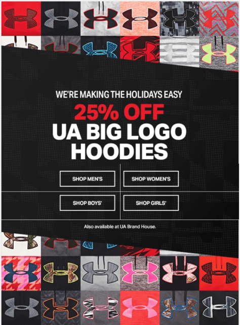 Under Armour Black Friday 2015 Flyer - Page 1