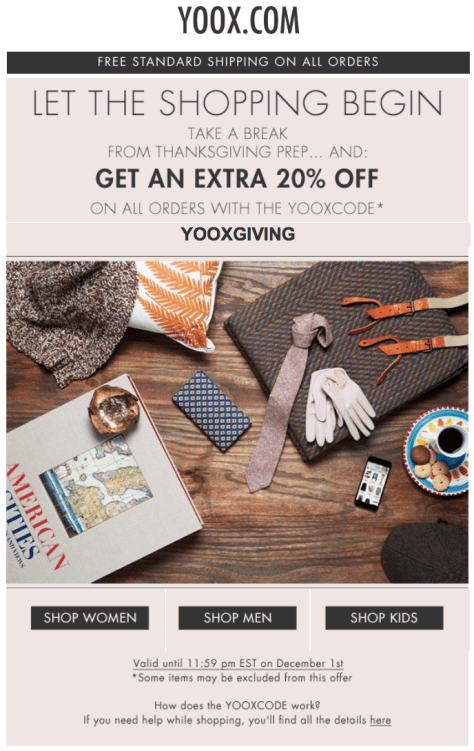 Yoox Black Friday Ad - Page 1
