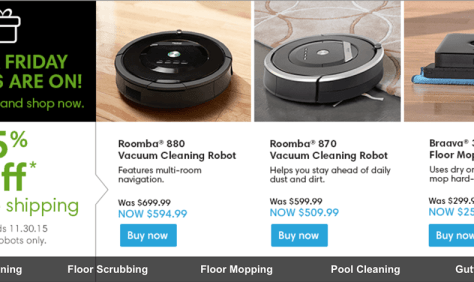 iRobot Black Friday 2015 Ad - Page 1
