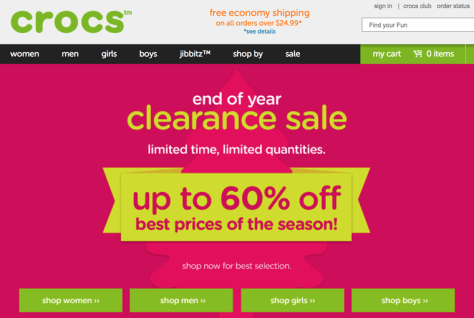 Crocs After Christmas Sale 2015 - Page 1