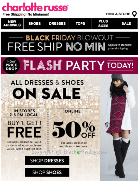 Charlotte Russe Black Friday Ad Scan - Page 1