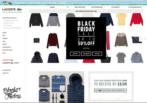 Lacoste Black Friday Sale - Page 1