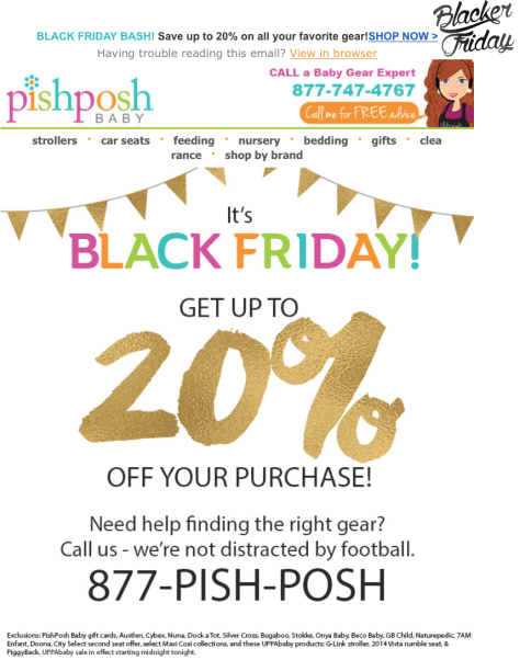 Pish Posh Baby Black Friday Sale - Page 1