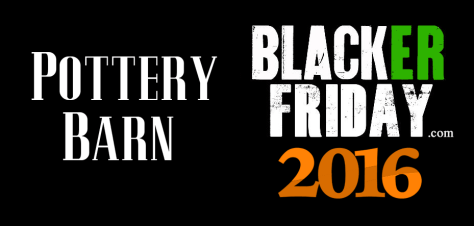 Pottery Barn Black Friday 2016