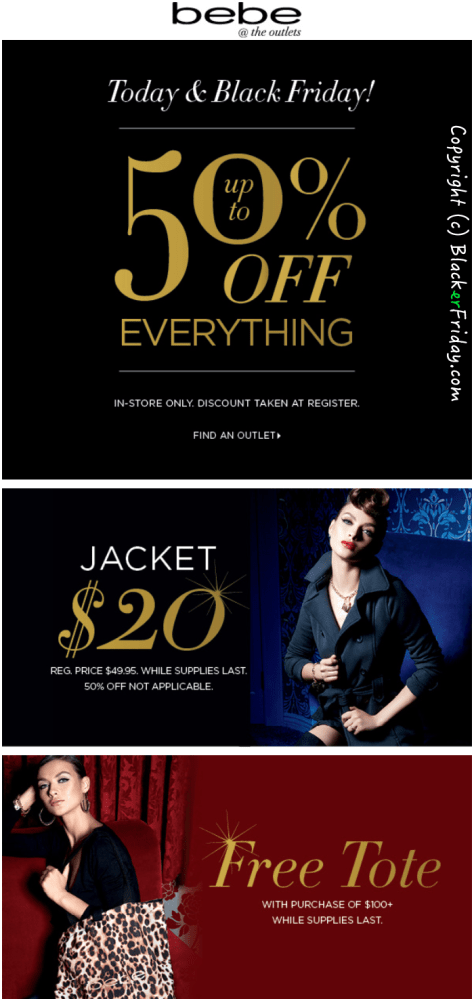 BEBE Black Friday Ad - Page 1