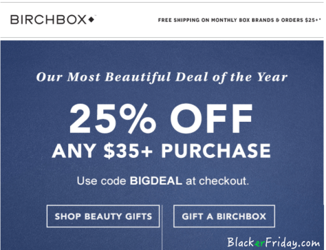 Birchbox Black Friday ad - Page 1