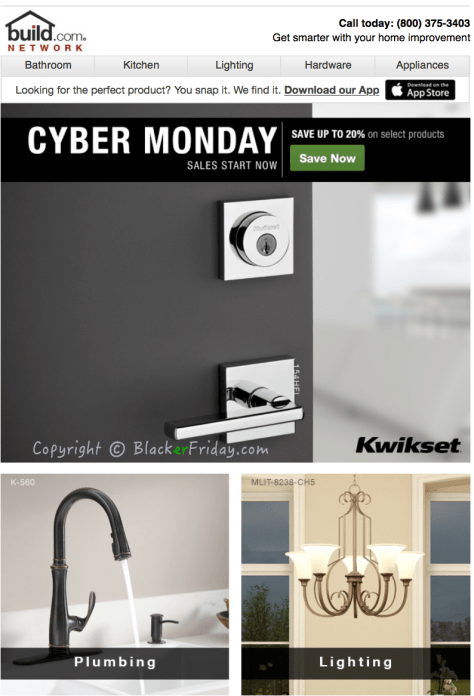 Build Cyber Monday Ad Scan - Page 1