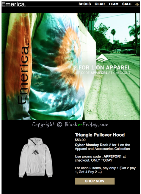 Emerica Cyber Monday Ad Scan - Page 1