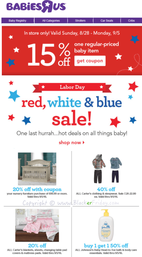 Babies R Us Labor Day 2016 Sale - Page 1