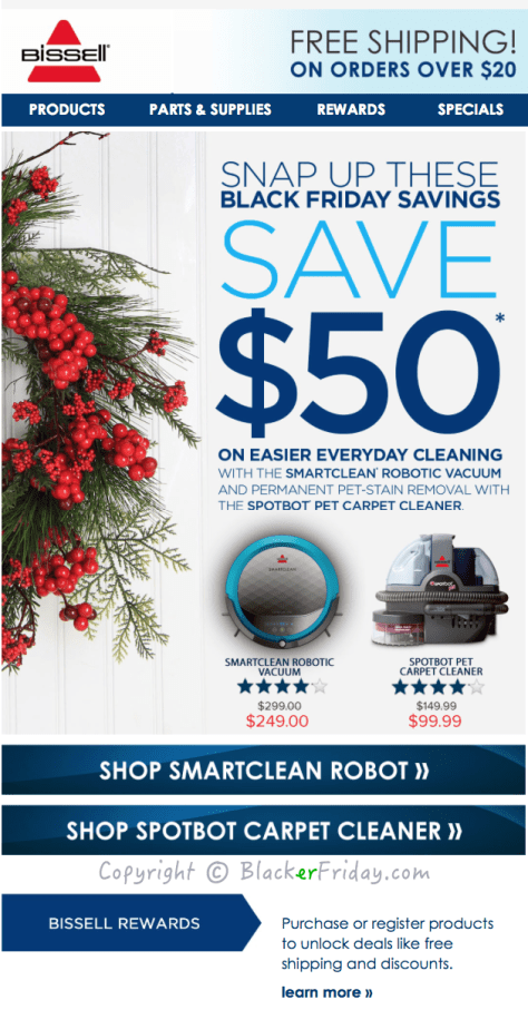 Bissell Black Friday Ad Scan - Page 1
