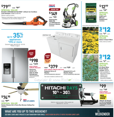 Lowes Labor Day 2016 Sale Flyer - Page 2