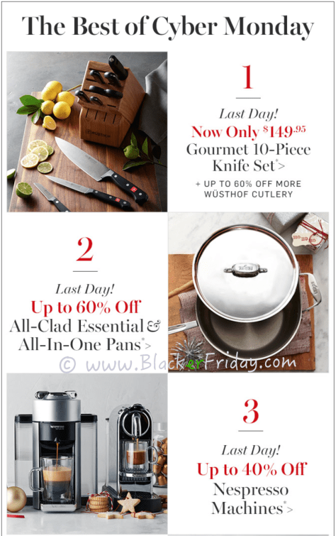 Williams Sonoma Cyber Monday Sale Ad Scan - Page 2