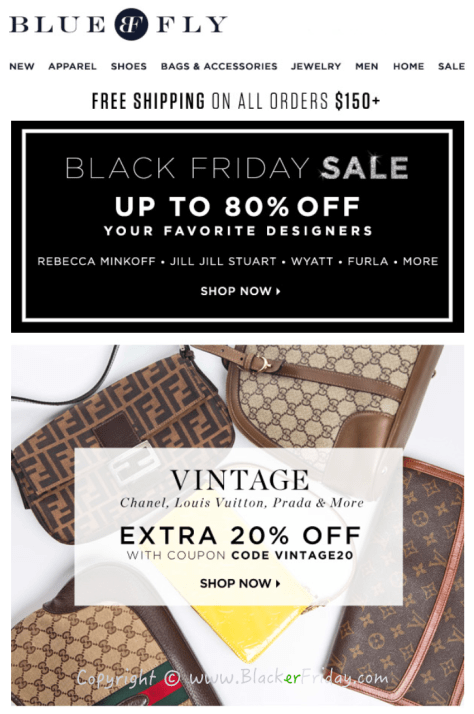 Bluefly Black Friday Sale Flyer - Page 1