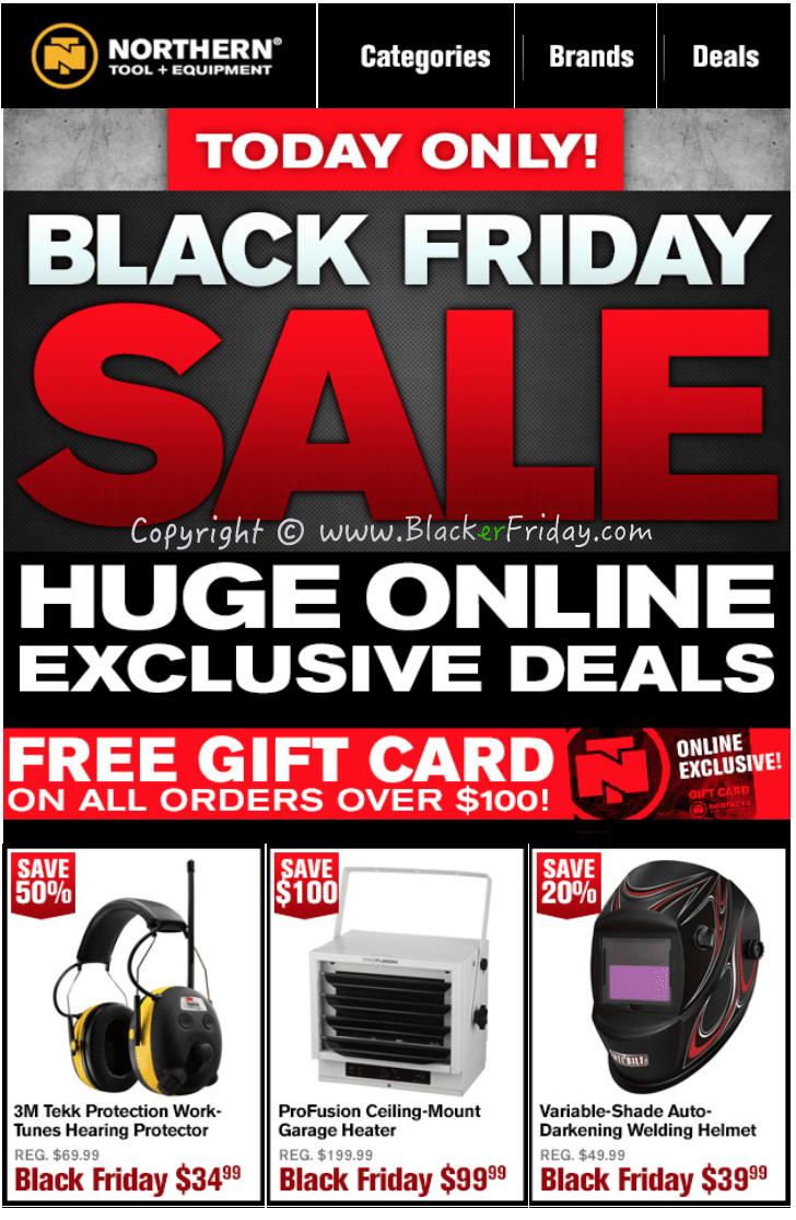 Northern Tool Black Friday 2017 Sale & Ad | Cyber Week 2017