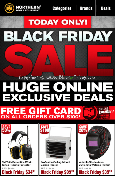 Northern Tool Black Friday Sale Flyer - Page 1