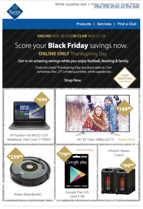 Sams Club Black Friday Sale Flyer - Page 1