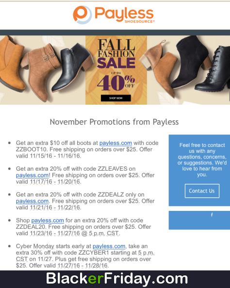 payless shoes black friday 2018 sale bogo deals blacker friday
