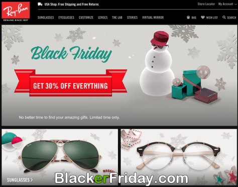 ray ban sunglasses Black Friday 2017