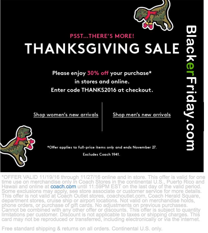 Coach Black Friday Sale