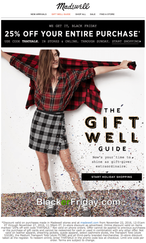 Madewell Black Friday 2016 Flyer Page 1