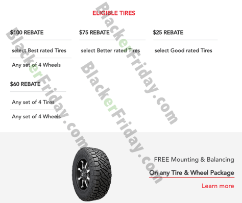 Discount Tire Cyber Monday 2019 Sale Rebates Blackerfriday Com