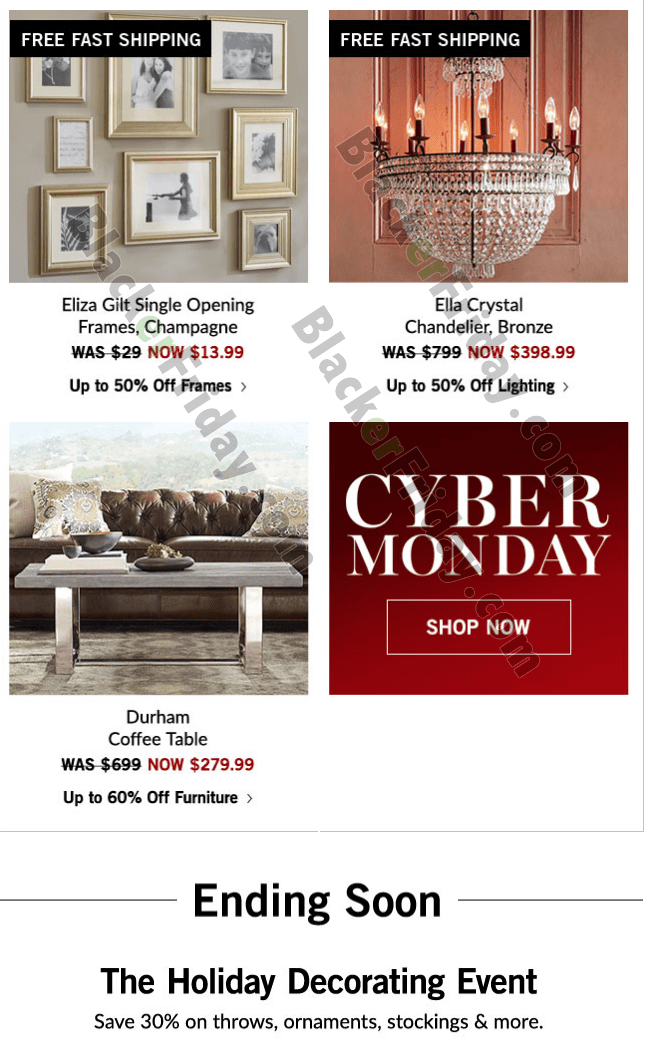 What Are You Planning On Getting At Pottery Barn This Cyber Monday? Some  New Christmas Decorations? Furniture? Or Did You Already Pick Up Some New  Things ...