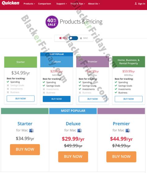 Quicken Cyber Monday Sale 2019 (2020 Versions) - BlackerFriday com
