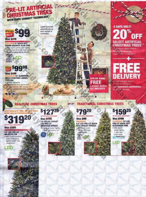 however a select number of home depots black friday deals have already gone live including appliances so be sure to check out their site for detials - Home Depot Black Friday Christmas Decorations