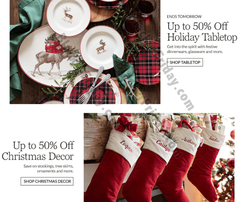 Pottery Barn After Christmas Sale 2019 Blacker Friday