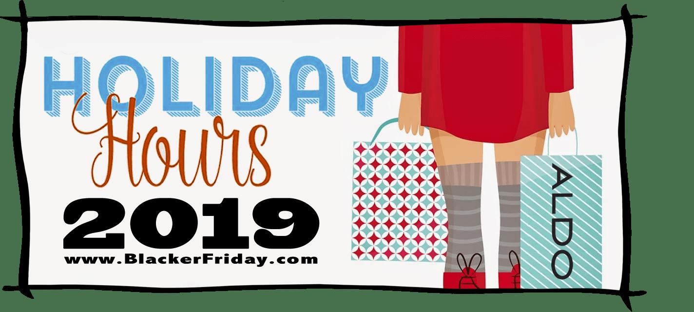 Aldo Black Friday Store Hours 2019