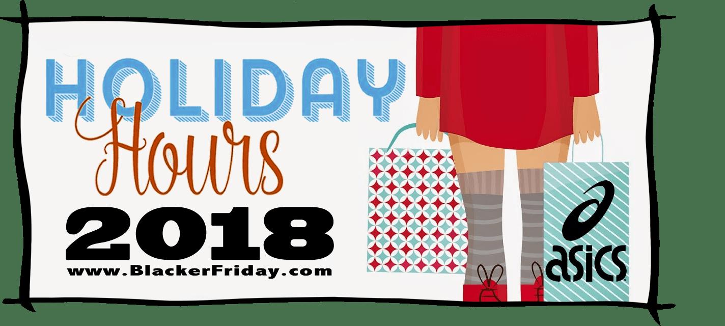 Asics Black Friday Store Hours 2018
