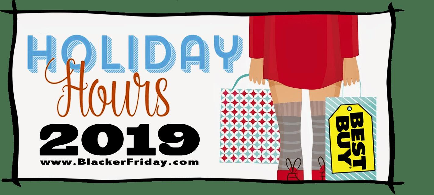 Best Buy Black Friday Store Hours 2019