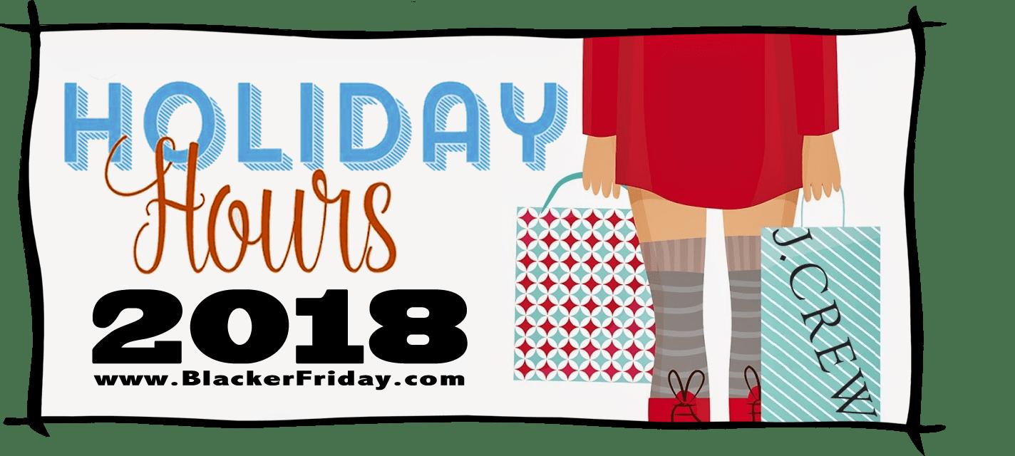 JCrew Black Friday Store Hours 2018