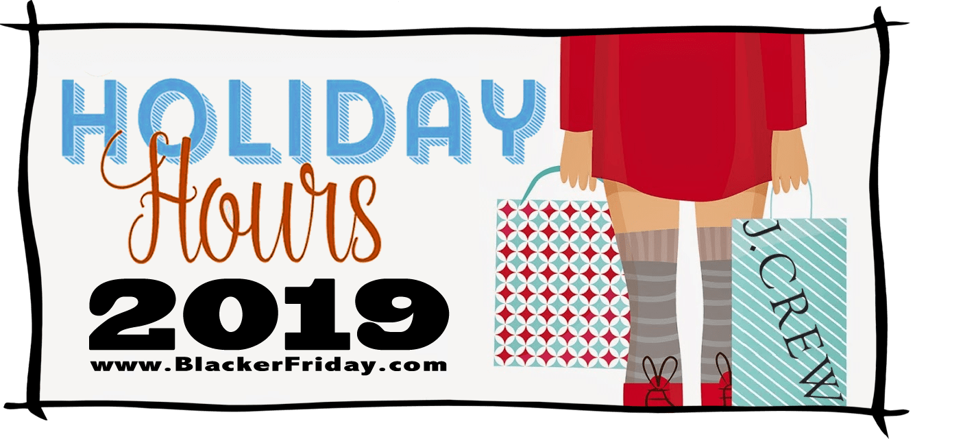 JCrew Black Friday Store Hours 2019
