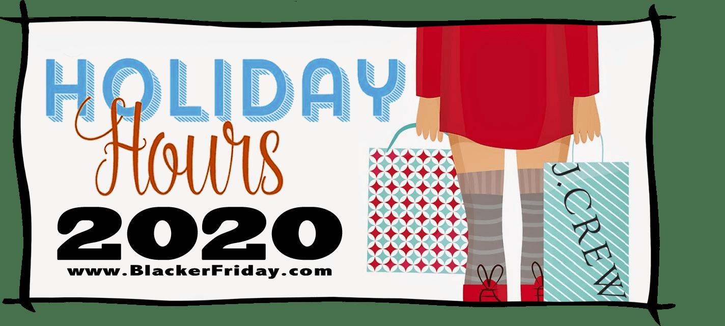 JCrew Black Friday Store Hours 2020