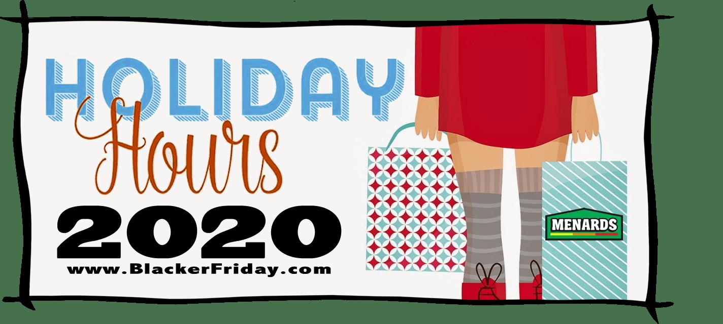 Menards Black Friday Store Hours 2020