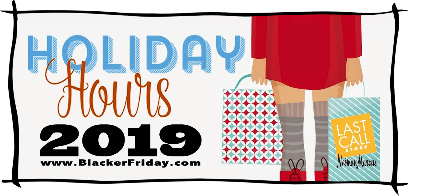 Neiman Marcus Black Friday Store Hours 2019