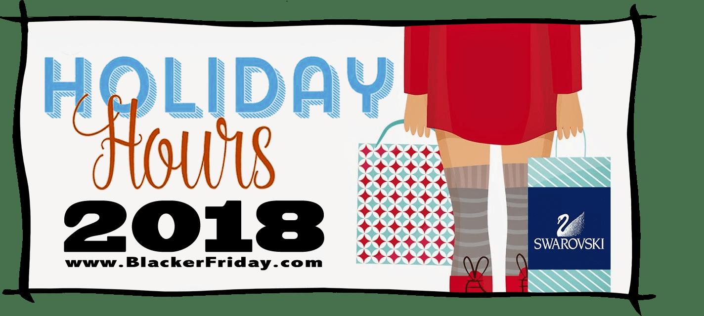Swarovski Black Friday Store Hours 2018