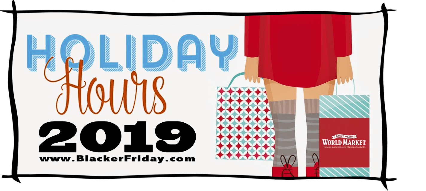 World Market Black Friday Store Hours 2019
