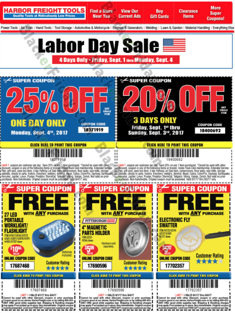 Harbor Freight Christmas Eve Hours.Harbor Freight Tools Labor Day Sale 2019 Blackerfriday Com