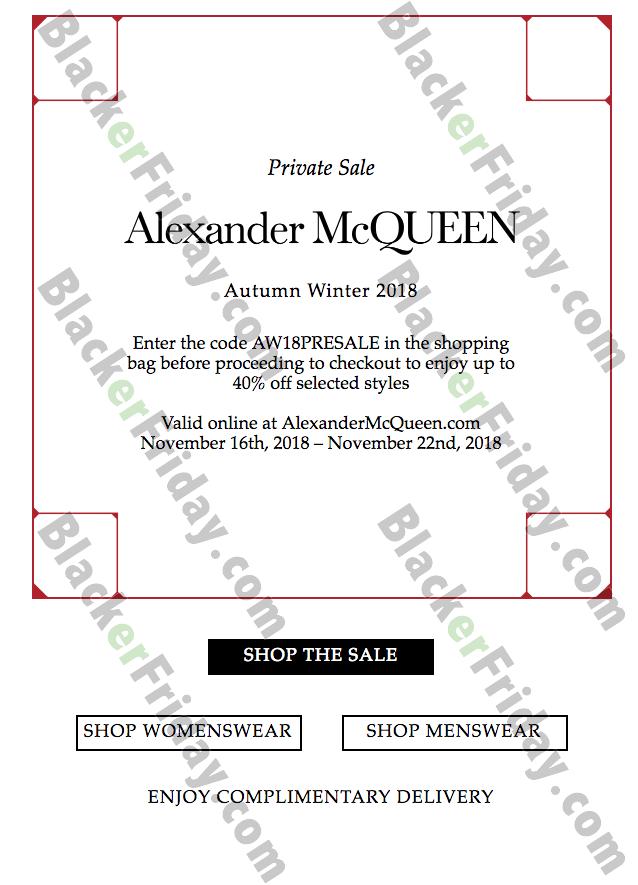 alexander mcqueen black friday